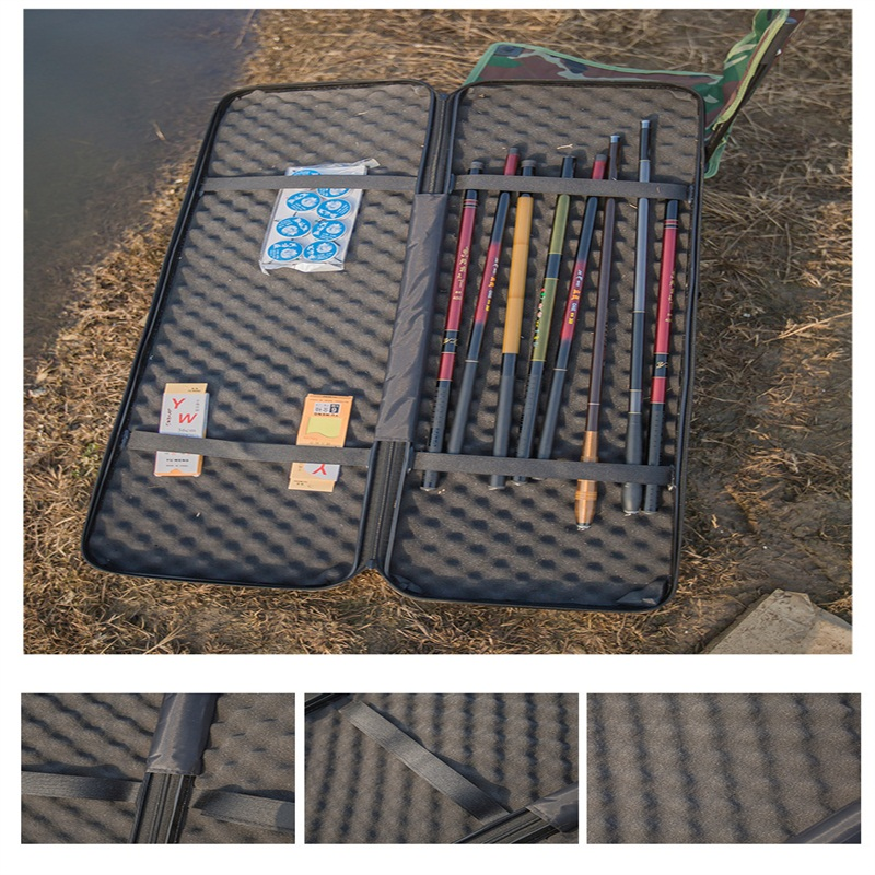 120 32cm Durable Shock resistant Fishing suitcase Fishing rod package Storage Bags