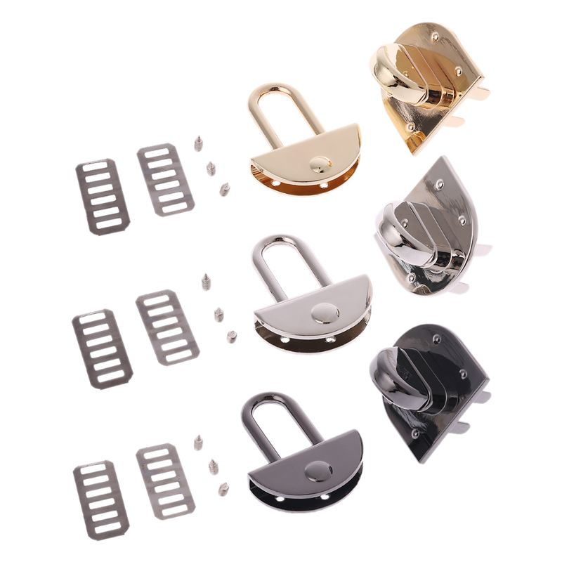 THINKTHENDO Metal Clasp Turn Lock Twist Locks For DIY Handbag Shoulder Crossbody Bag Purse Hardware