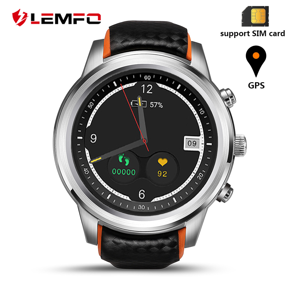 LEMFO LEM5 Pro Smart Watch Watches Phone Wearable Smartwatch Smart Watches Phone Android 5.1 2GB + 16GB children smart watch phone smartwatch android kids gps watch sos electronics smart watches wearable devices