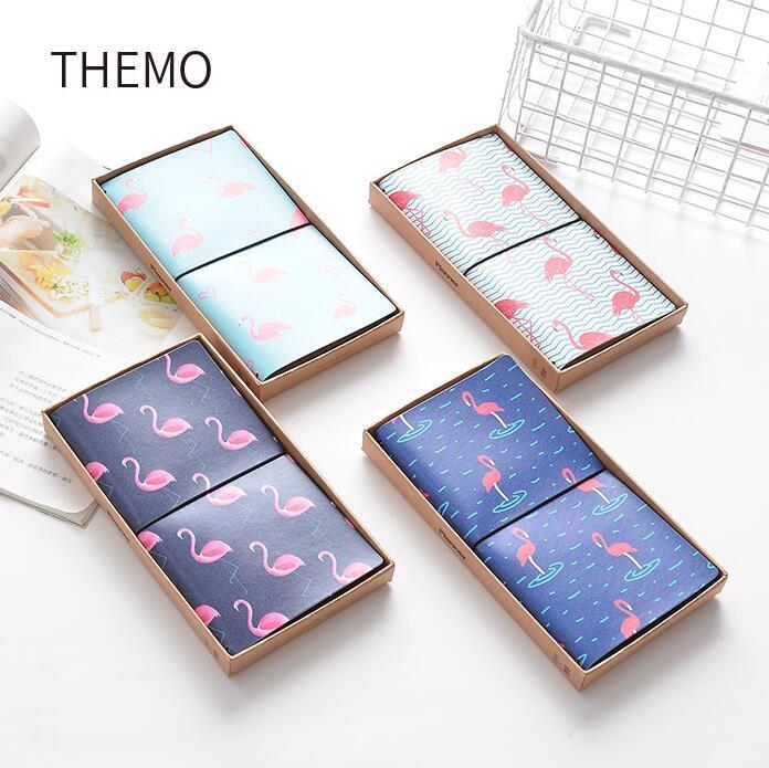 Die Spaziergang Flamingo PU Leder Abdeckung Planer Notebook Tagebuch Buch Übung Kugel Journal Notiz Geschenk Schreibwaren