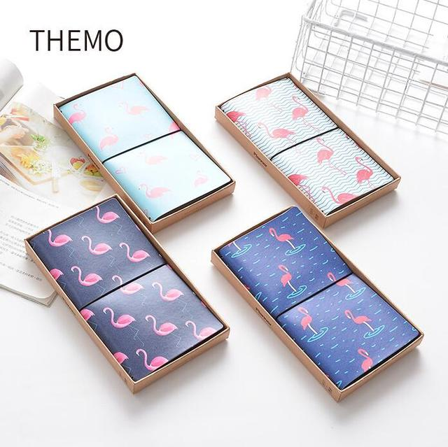 The Strolling Flamingo PU Leather Cover Planner Notebook Diary Book Exercise Bullet Journal Notepad Gift Stationery