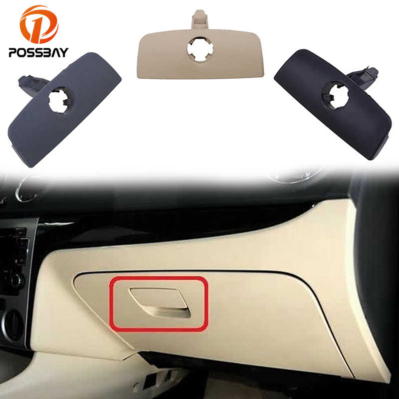 POSSBAY Car Inner Storage Glove Box Handle Cover Lid Lock with Hole for VW Passat B5 Black/Gray/Beige Glove Box Lock Lid Handle