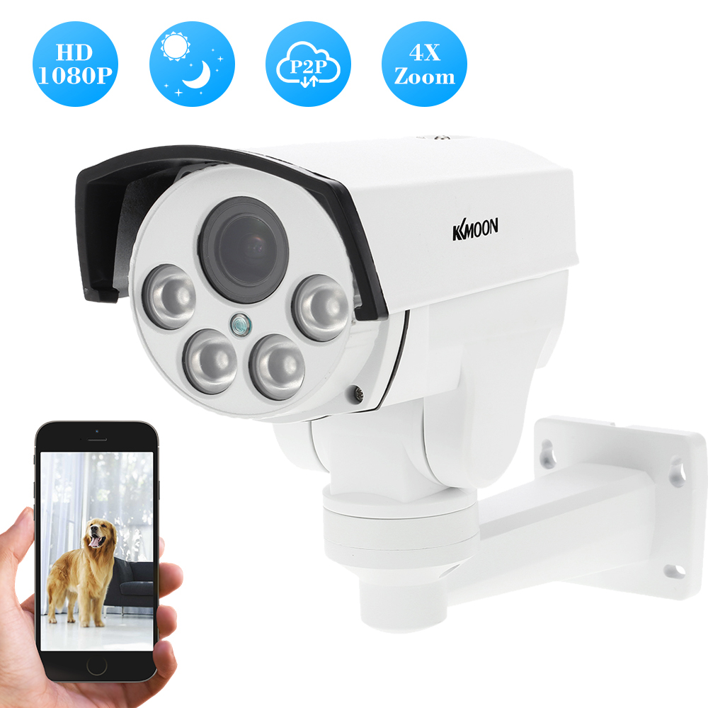 KKmoon IP Camera 2MP 1080P HD Wireless WIFI PTZ CCTV ...