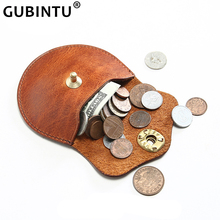 Genuine Leather Retro Coin Purse Men Women Mini Wallets 100% Real Cow Leather Card Storage Pouch Simple Lady Change Purse Small