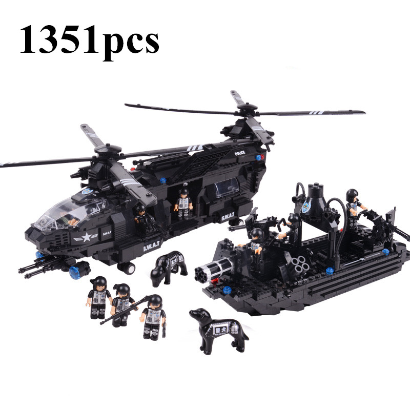 AIBOULLY 2017 NEW1351pcs Swat team model building blocks Chinook transport helicopter Kids Educational Bricks Toys Free Shipping brand new yuxin zhisheng huanglong high bright stickerless 9x9x9 speed magic cube puzzle game cubes educational toys for kids