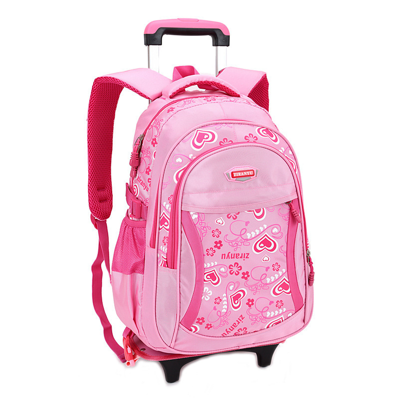 8ac06f9fe719 Children Trolley School Bag Backpack Wheeled School Bag For Grils Kids Wheel  Schoolbag Student Backpacks Bags Free Shipping-in School Bags from Luggage  ...