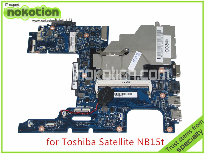 все цены на NOKOTION MA10 Mainboard REV 2.2 H000064160 Laptop Motherboard For toshiba satellite NB15 NB15T CPU N2810 Onboard DDR3 board онлайн