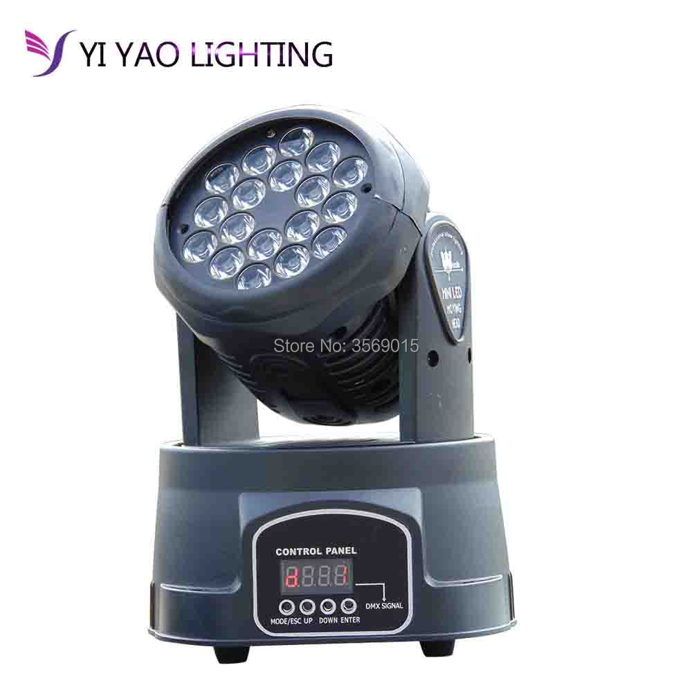 18x3W Mini Moving Head Light Led RGB Wash Moving Head Light For Sale