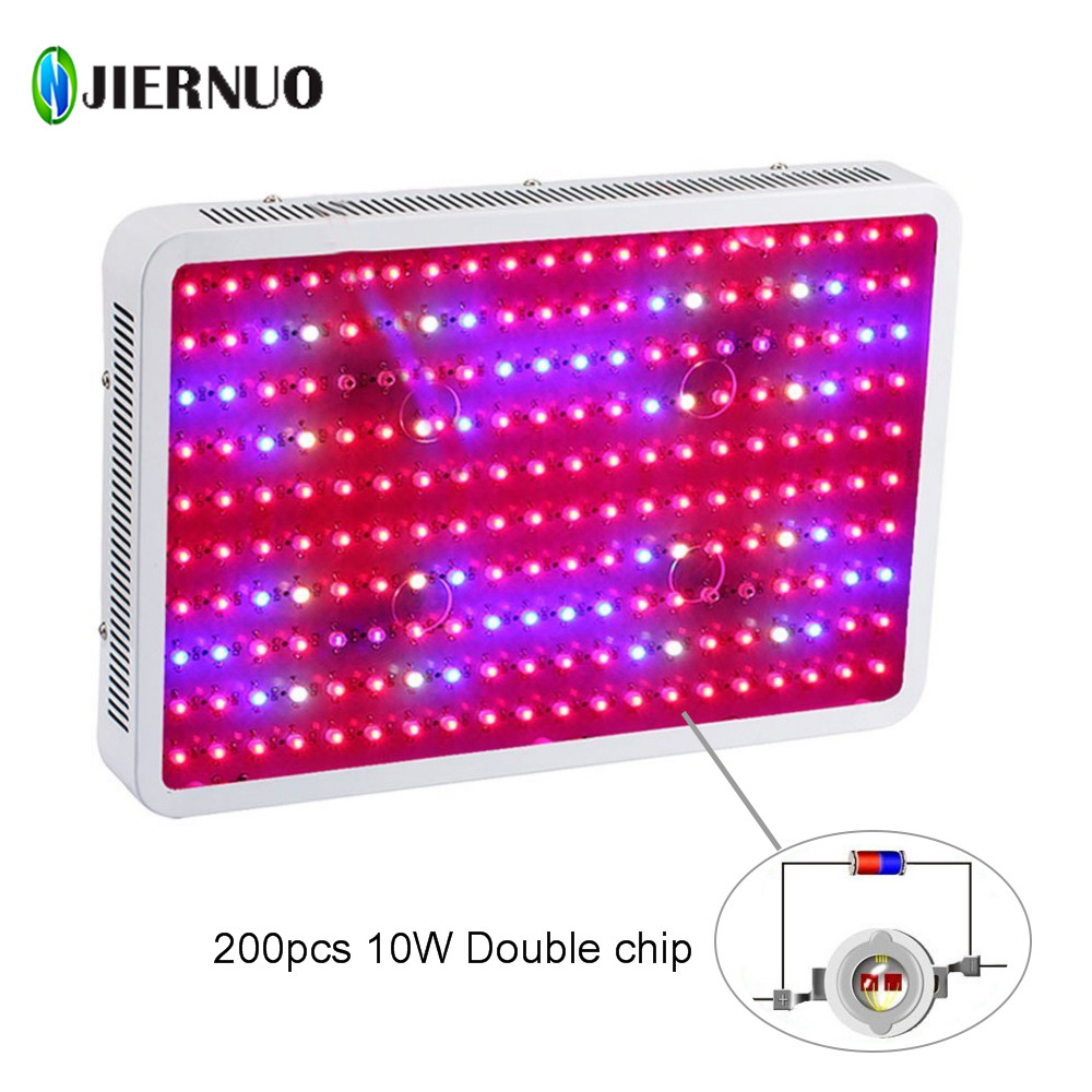 JIERNUO LED Grow Light 2000W 1200W 1000W 600W Double Chips LED plant Growth lamp Full Spectrum for indoor plant Aquarium Growing цена