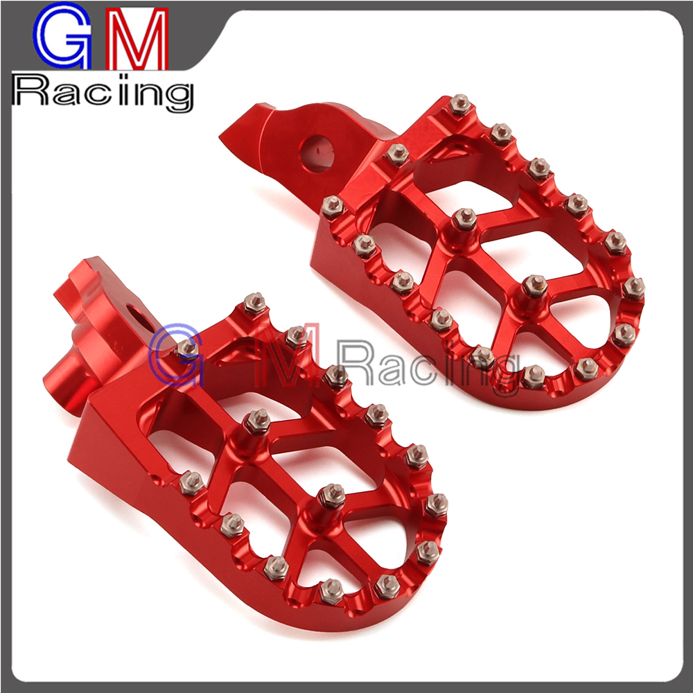 Motorcycle Red CNC Billet Foot Pegs Rests Footpegs Pedals For SUZUKI RMZ250 RMZ450 RMZ 250 450 05 06 2007 2008 2009 Dirt Bike цена