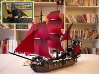 The Black Pearl & Queen Anne's revenge fit legoings Pirates ship of the Caribbean Building Blocks bricks 4184 4195 gift kids set