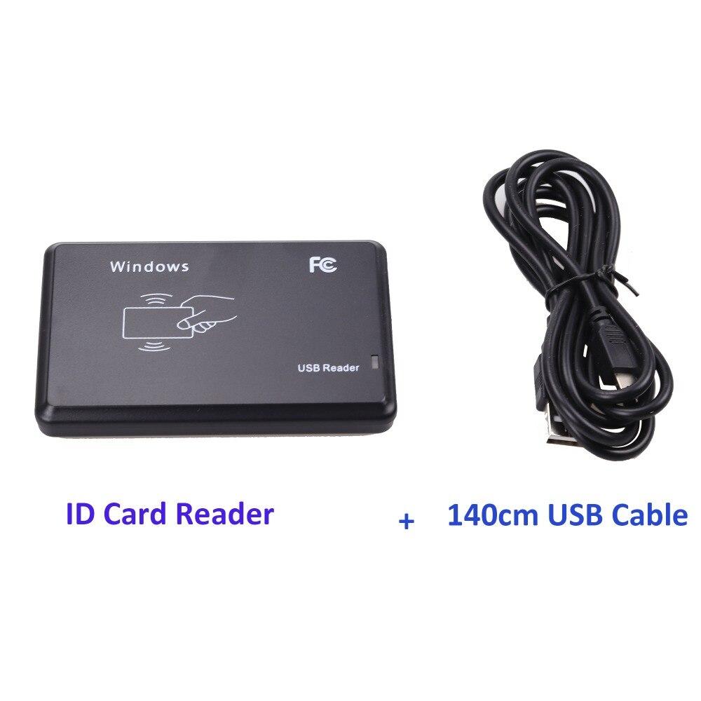 USB יציאת EM4001 125 khz RFID מזהה ללא מגע רגישות חכם כרטיס קורא תמיכה חלון מערכת