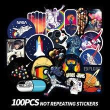 100pcs Galaxy Universe Astronaut Stickers for Luggage Laptop Decal Skateboard Bicycle Guitar Fridge Car Bumper Sticker