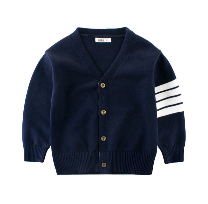 Hot Sale Boy Sweater 2018 Autumn Brand Design Wool Knitted Cardigan For Baby Children Clothes Kids Infant Stripe Long Sleeve Top