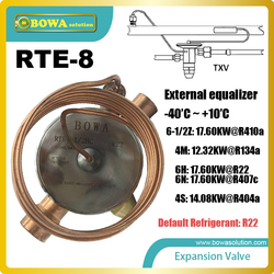 RTE-8 thermostatic expansion valve TEV onstantly modulates the flow to maintain the superheat for which it has been adjusted