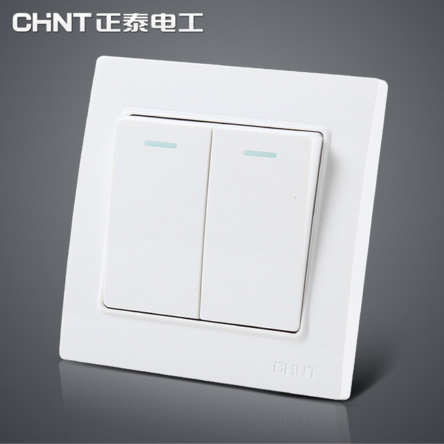 Online Shop CHINT 86 Type Switch Two Gang More Way Three Color Light ...