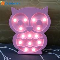 SOLLED Lovely 3D Cartoon Owl Night Lamp Bed Light Home Kids Room Decoration Night Light Gift