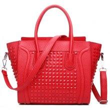 FRÄULEIN LULU Frauen Designer Promi Lächeln quadrat nagel Handtasche Schultertasche Handtasche Stile