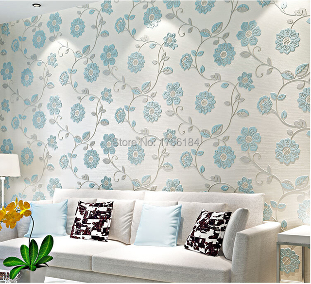 Embossed textile import non woven 3d ikea wallpapers roll for Ikea carta da parati
