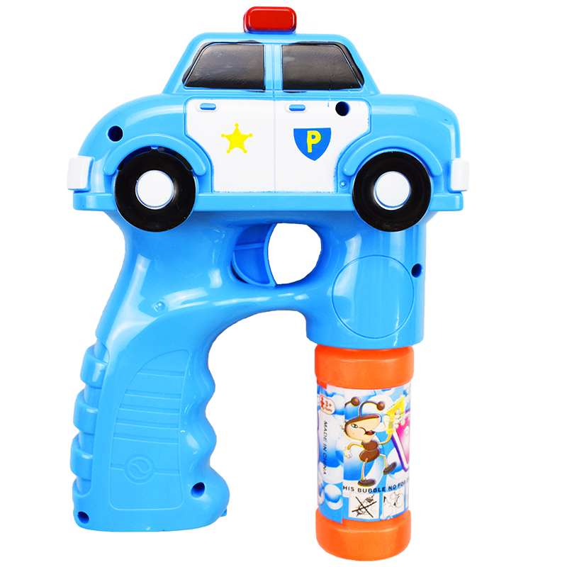 1 Pcs/Lot Outdoor Automatic Electric Toy Car Engine Soap Blow Bubbles Gun Machine Music Light Water Gun Kids Game Bubble Toys