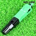 KELUSHI 10 pçs/lote SC--APC Incorporado Conector Rápido De Fibra Óptica para Transmissão de CATV/FTTH, Frete Grátis