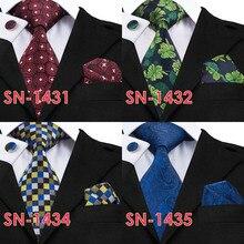 Golden Solid Tie + Hanky Cufflinks Sets For Men
