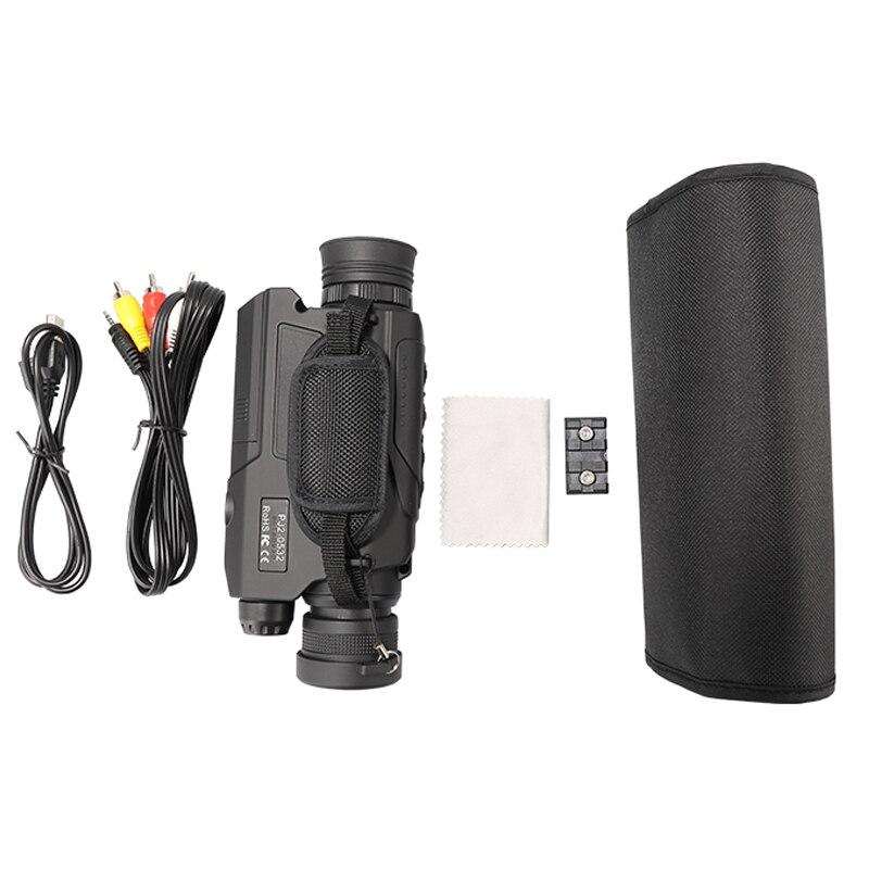 WG540 monoculaires de Vision nocturne numérique infrarouge avec carte 8G TF full dark 5X40 200M gamme optique de Vision nocturne monoculaire de chasse - 6
