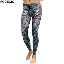 FCCEXIO New Design 2019 Leggings Women Animal Lion Digital Print Legging  Workout Leggins Slim Elastic Plus 9b8e5e54f767