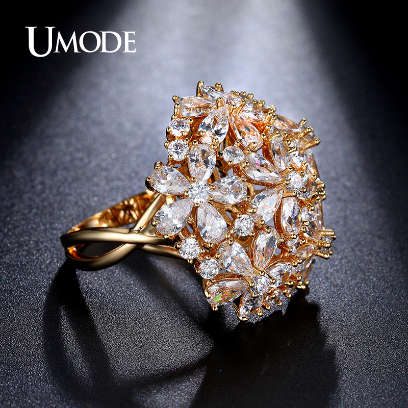 UMODE New Hot Fashion Jewelry Gold Color AAA Top Grade Cubic