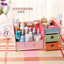 DIY Wood Large Capacity Studs font b Earrings b font Rings Necklace Storage Case Jewelry Box