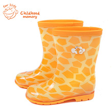 2016 New PVC Rain Boots Cute Baby Boys And Girls Waterproof Shoes Cartoon Baby Rainboots
