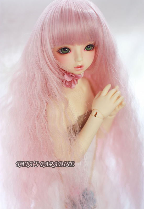 NEW !!  1/ 3 1/4 1/6  BJD wig pink long curly hair  High-Temperature Wire for 1/3 1/4 1/6  BJD SD dollfie new 1 4 8 9 inch bjd wig short hair doll diy high temperature wire for 1 4 msd bjd sd dollfie