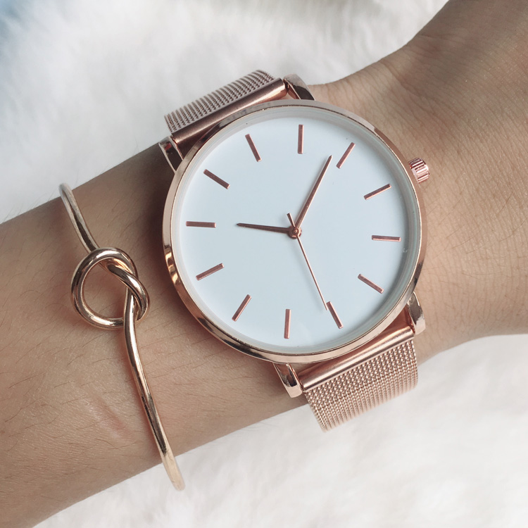 lady watches 2018 luxury women ladies watch bracelet rose gold female dress wrist watch brand quartz wristwatch dropshipping duoya fashion luxury women gold watches casual bracelet wristwatch fabric rhinestone strap quartz ladies wrist watch clock