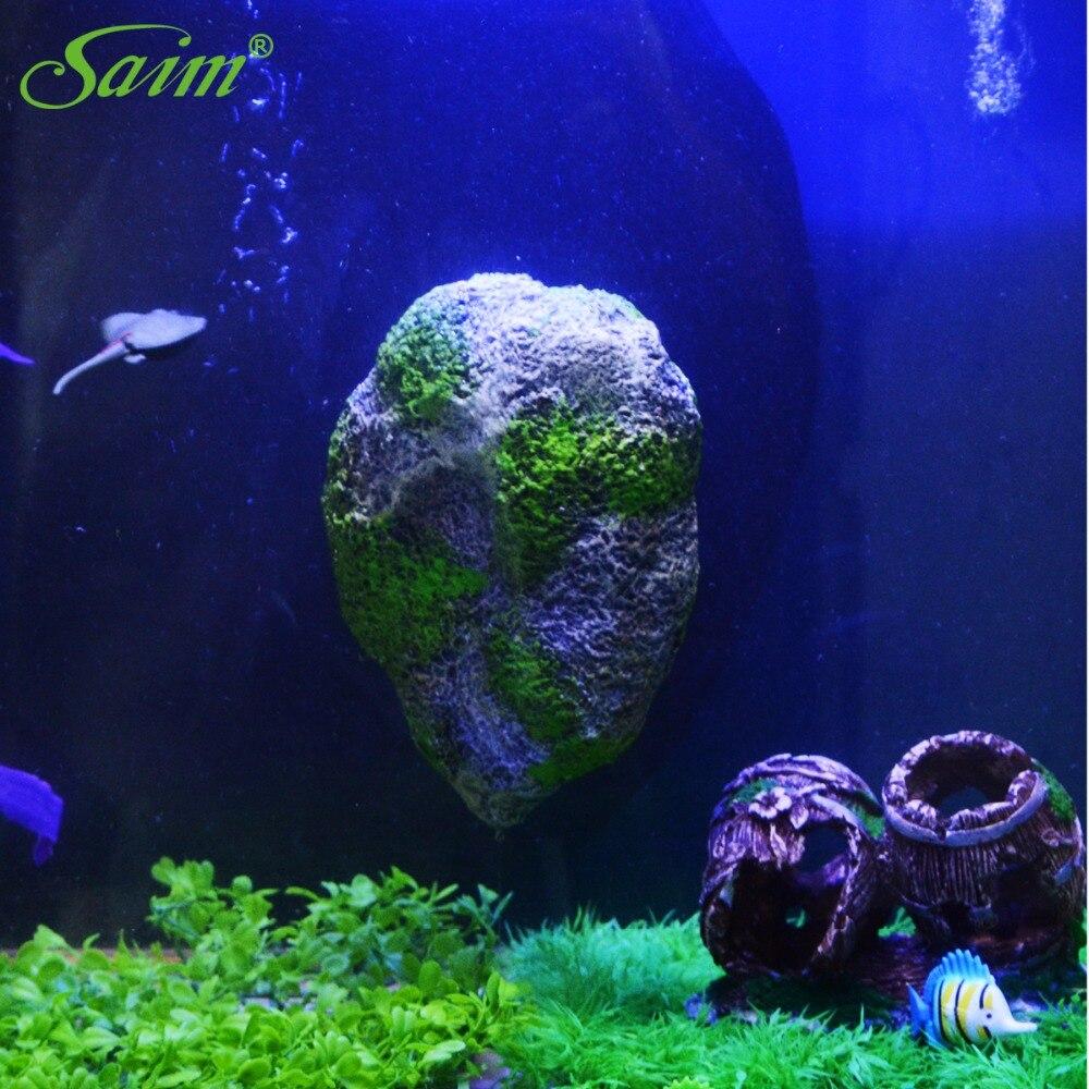 Artificial aquarium fish tank - 2017 New Artificial Floating Pumice Suspended Stone Aquarium Fish Tank Decoration Moss Flying Rock Aquatic Ornament