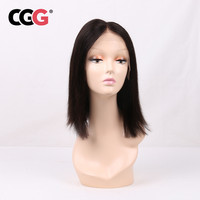 CGG Hair Short Bob Wigs Straight Natural Color Human Hair Wigs European Remy Human Hair Lace Front Wigs For Women