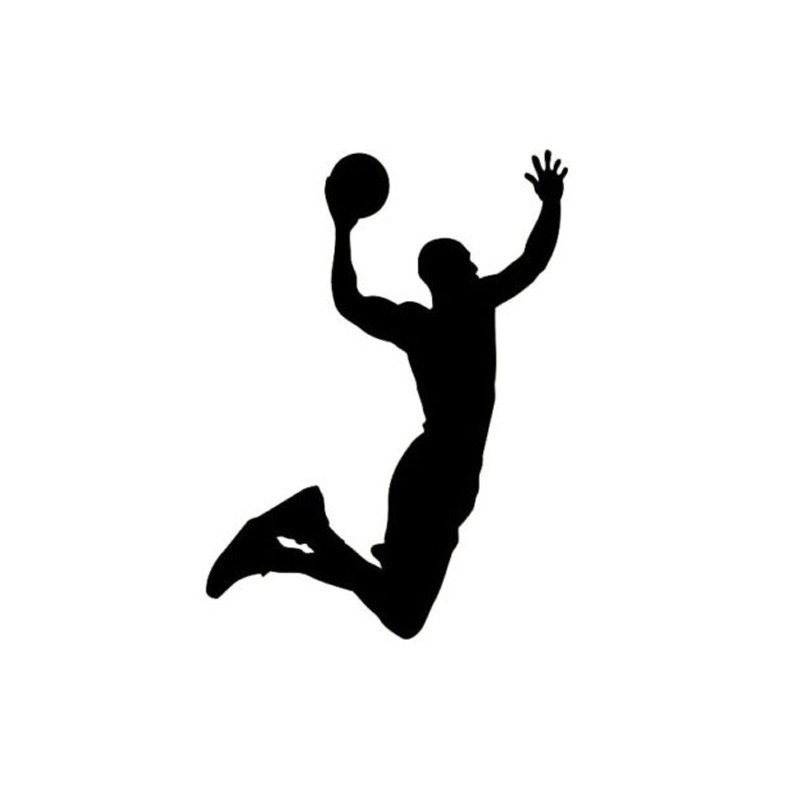 9 7 13cm Funny Basketball Dunk Vehicle Decals Cartoon Motorcycle Vinyl Car Stickers Black Silver C7 0197 Car Sticker Vinyl Car Stickersstickers Black Aliexpress