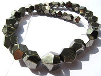 2strands Genuine Raw Pyrite Crystal Nuggets Faceted Pyrite Cube Iron Gold Pyrite Beads 6 12mm Full