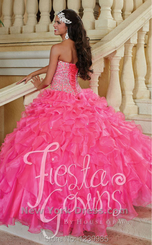 Pink Puffy Quinceanera Dresses 2015 - Missy Dress