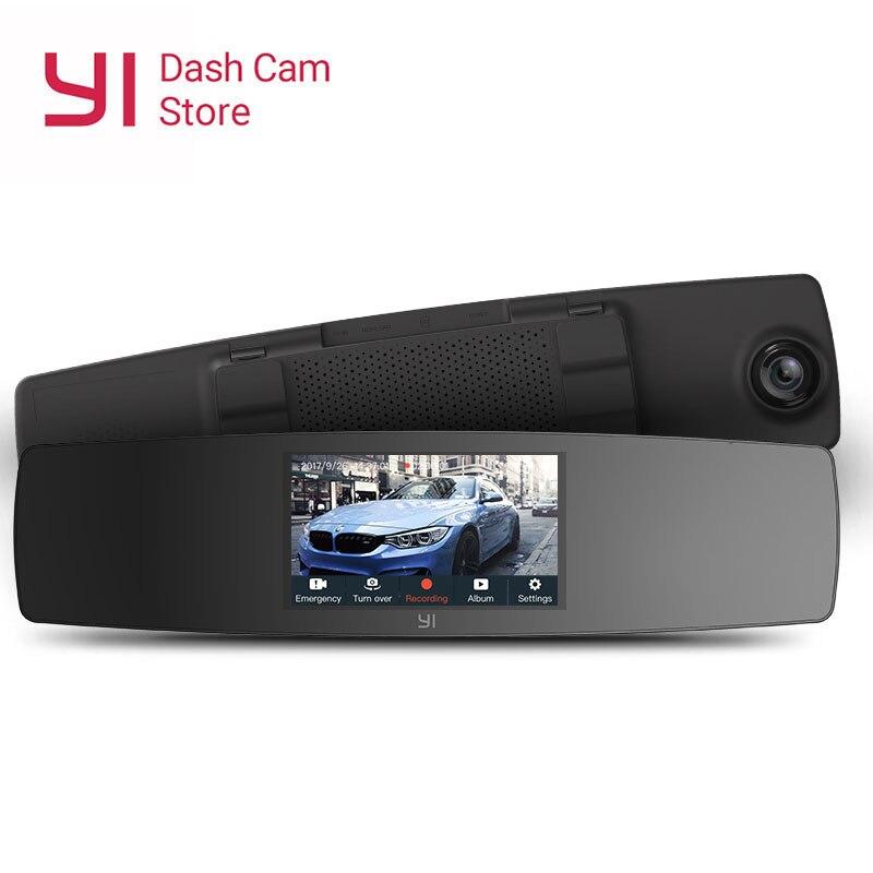 YI rétroviseur tableau de bord caméra écran tactile avant vue arrière HD Auto vidéo voiture Wifi DVR caméra enregistreur G capteur Vision nocturne