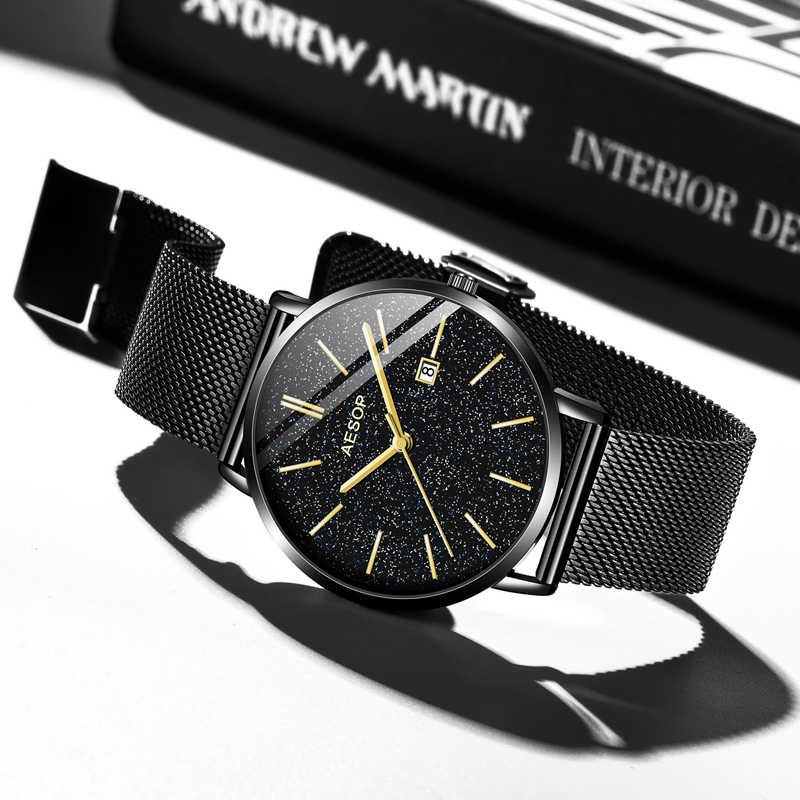 AESOP Relogio Masculino homme montre hommes de luxe hommes montres haut marque de luxe mâle horloge hommes étanche Date acier inoxydable montre