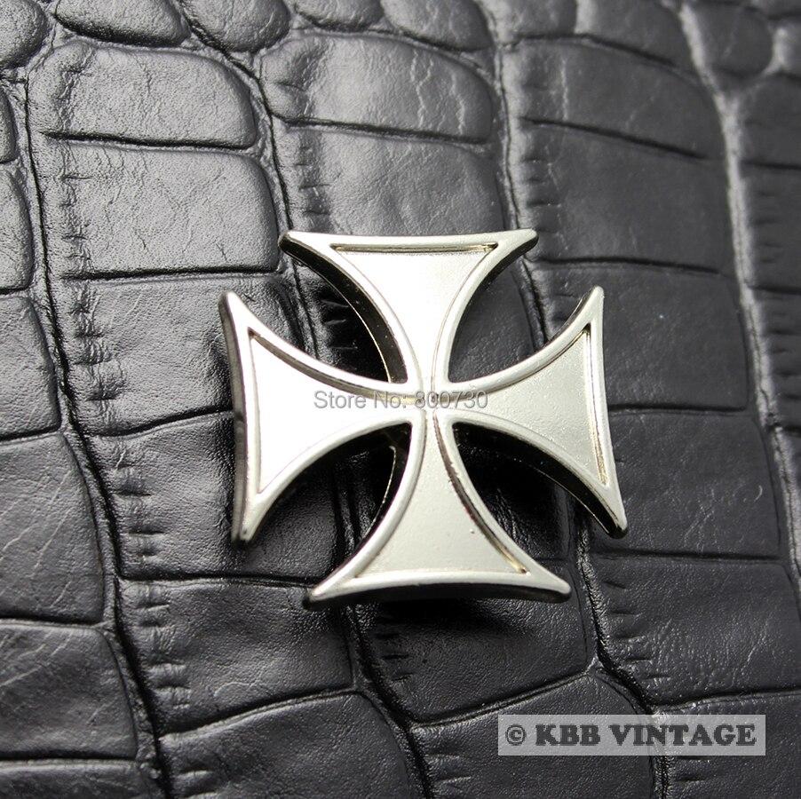 (KB605) 10pc metalice de argint Concho Maltese Cross Concho - Arte, meșteșuguri și cusut