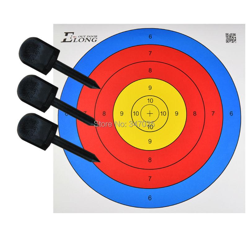 10pcs tiro tiro con l/'arco bersaglio carta pratica accessori caccia freccia x