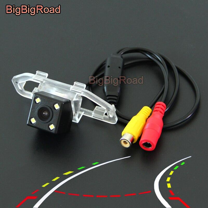 купить BigBigRoad For toyota camry 2012 2013 2014 2015 2016 Car Intelligent Dynamic Trajectory Tracks Rear View Parking CCD Camera по цене 2364.27 рублей