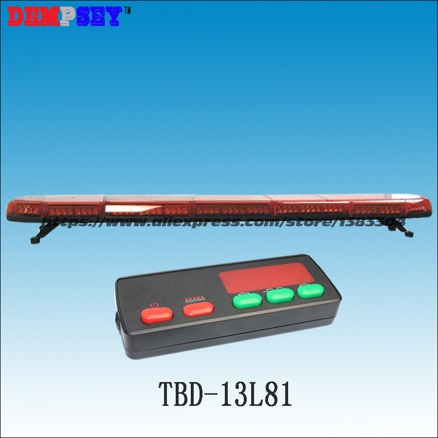 TBD-13L81 High quality super bright 1.8M LED Red lightbar,DC12/24V Car Roof Flash Strobe lightbar,Police/fire/emergency lightbar