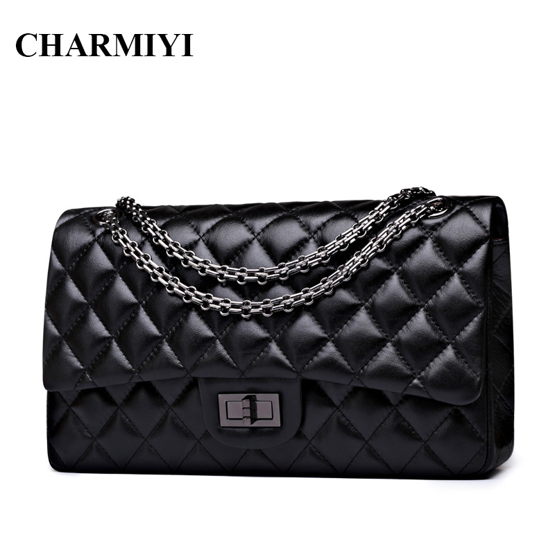 CHARMIYI Luxury High Quality Genuine Leather Women Shoulder bag Famous Brand Chain Women Messenger bags Soft Lady Crossbody bag high quality rd 6442 laser controller main board for co2 laser cutting engraving machine