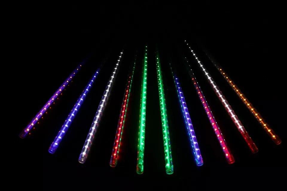 50 cm de long 5050 SMD 72leds/tube RVB couleur Neige Météore a mené le tube; 12mm de diamètre; 10 pièces/ensemble; AC90-260V d'entrée
