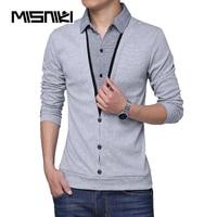 MISNIKI Brand 2018 Spring New Men T Shirt Long Sleeve Cotton Casual Patchwork Mens T Shirts