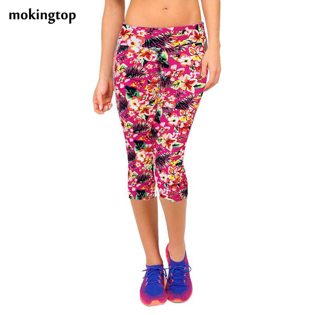 mokingtop Leggings Summer Women High Waist Elastic Fitness