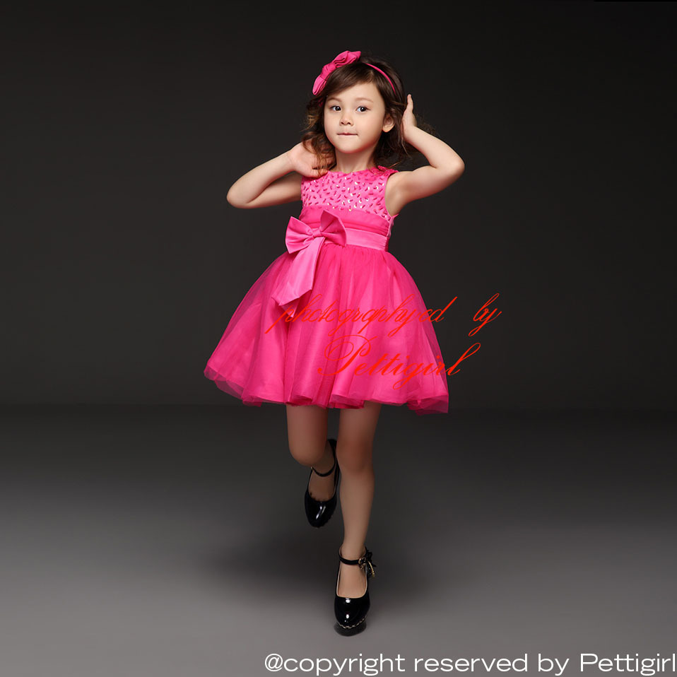 Aliexpress.com : Buy Pettigirl Girls New Party Dresses Hot Pink ...