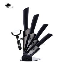 """Myvit marke Küchenmesser 3 """"4"""" 5 """"6"""" + Peeler + Messerhalter Keramisches Messer 8 Farbe Griff Weiß Klinge Küchenmesser"""